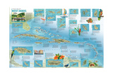 2003 A Travelers' Map of the West Indies Print