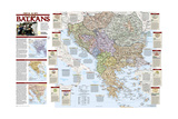 2008 Balkans Conflict Map Premium Giclee Print by  National Geographic Maps