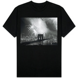 Fireworks over the Brooklyn Bridge T-Shirt