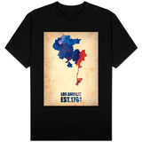 Los Angeles Watercolor Map 1 T-shirts