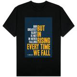 Our Greatest Glory Confucius Quote T-skjorter