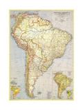 1937 South America Map Print