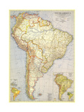 1937 South America Map Print by  National Geographic Maps