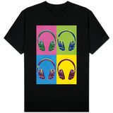 Headphones Pop Art Shirts