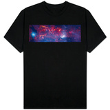 Central Region of the Milky Way Galaxy T-shirts