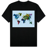 World Watercolor Map 3 T-Shirt