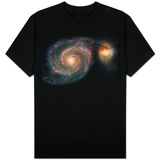 Out of This Whirl: the Whirlpool Galaxy M51 and Companion Galaxy Space Photo T-Shirt