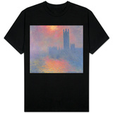 The Houses of Parliament, London, with the Sun Breaking Through the Fog, 1904 T-shirts