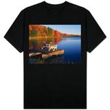 Adirondack Chairs on Dock at Lake Shirt