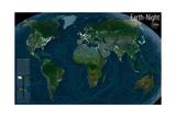 2004 Earth at Night Plakater av  National Geographic Maps