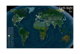 2004 Earth at Night Posters by  National Geographic Maps
