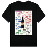 Types of Wine Chart T-Shirt