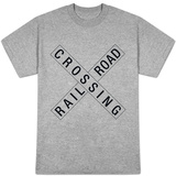 Railroad Crossing Crossbuck Traffic T-Shirt