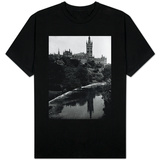 Views Glasgow University with the River Kelvin Flowing Alongside T-Shirt