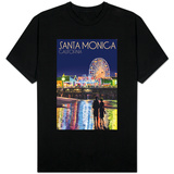 Santa Monica, California - Pier at Night T-shirts