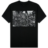 Williamsburg Brooklyn Psychedelic Graffiti B&W T-shirts