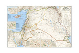 2003 Iraq and the Heart of the Middle East Map Prints by  National Geographic Maps