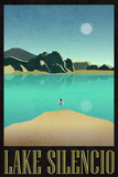 Lake Silencio Retro Travel Poster Poster
