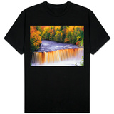 Tahquamenon Falls in Autumn T-shirts