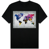 World Watercolor Map 13 Shirts