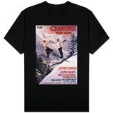 Chamonix Mont-Blanc, France - Skiing Promotional Poster T-shirts
