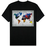 World Watercolor Map 12 Shirts