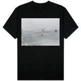 Orville Wright on First Flight at 120 feet Photograph - Kitty Hawk, NC Shirts