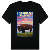 Yellowstone National Park - Bison and Sunset Shirts