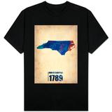North Carolina Watercolor Map T-shirts