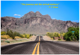 The Journey Not the Arrival Matters T.S. Eliot Quote Affiche