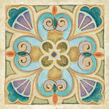 Birds Garden Tile IV Print by Daphne Brissonnet