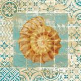 Shell Tiles I Blue Reprodukcje autor Danhui Nai