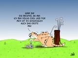 Golfkatze Posters by Uli Stein