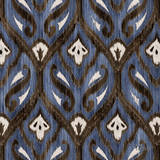 Indigo Ikat II Art Print by Paul Brent