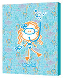 Girl-Snorkeling! Gallery Wrapped Canvas