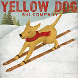 Yellow Dog Ski Co. Póster por Ryan Fowler
