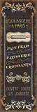 Parisian Signs Panel I Kunstdrucke von  Pela