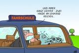 Tintenfischfahrschueler Poster by Uli Stein