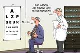 Blind Zum Optiker Posters by Uli Stein