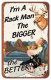 I'm A Rack Man Hunting Tin Sign Plaque en métal