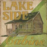 Lakeside Cabins Kunst af Debbie DeWitt