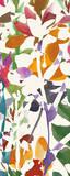 Pink Garden Panel II White Prints by Wild Apple Portfolio