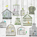 Birdcages Collage Square I Posters by Maria Carluccio