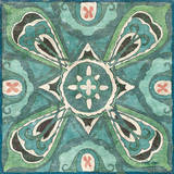Tuscan Tile Blue Green III Prints by Kristy Goggio