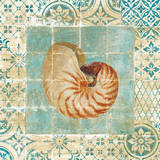Shell Tiles III Blue Prints by Danhui Nai