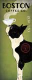 Boston Terrier Coffee Co . Art par Ryan Fowler