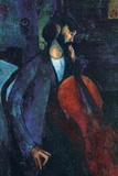 Amadeo Modigliani The Cellist Poster Print