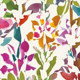 Pink Garden square III White Prints by Hugo Wild