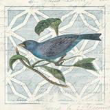 Monument Etching Tile II Blue Bird Prints by Wild Apple Portfolio