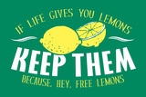 Free Lemons Snorg Tees Poster Posters